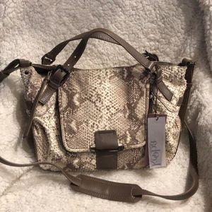 "Kooba ""Gwenyth"" Natural Snake Leather Satchel Bag"